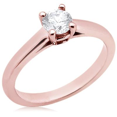 E VVS1 Diamonds 2.25 ct. solitaire Pink Gold ring new