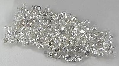 1 carat diamond parcel star melee F/G VVS round cut 3/4 pointer diamond parcel