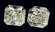 1 carat sparkling radiant diamond pair loose diamond natural earth mined