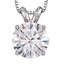 1.01 carat diamond solitaire style pendant with chain