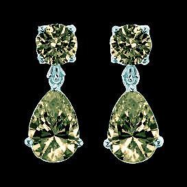 Cognac diamonds dangle earrings 2.50 carats fancy color