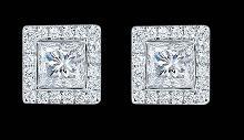 Diamond stud earrings 4.5 ct. Princess diamond ear ring