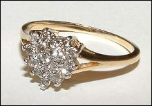 Diamonds 0.35 carats DIAMOND RING HEART STYLE gold !