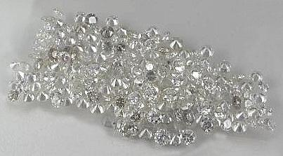 1 - 1.25 Pointer star melee G/H I2 wow round cut diamond diamond parcel 1 carat