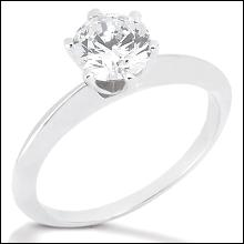 1 carat Diamond SOLITAIRE WHITE GOLD 18K ring F VS1 jewelry
