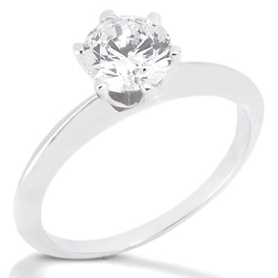 1 carat Diamond SOLITAIRE WHITE GOLD 18K ring F VS1 jewelry