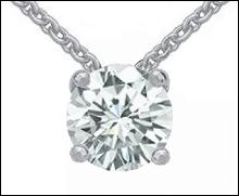 Huge round 4 carat diamond pendant jewelry white gold