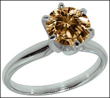 0.75 carat champagne diamond engagement ring gold