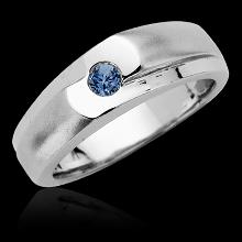 1 carat blue diamond solitaire anniversary ring white