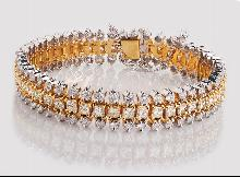 20.25 cts DIAMOND TENNIS BRACELET carpet wide large new