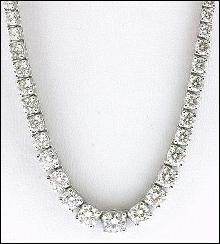 25 carats Diamonds necklace tennis graduated riviera
