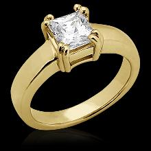 0.75 Ct. DIAMOND ring SOLITAIRE engagement gold yellow