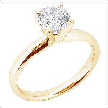 0.75 ct. diamond solitaire ring 4 prong set yellow gold