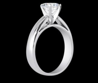 0.75 ct. diamond solitaire ring cathedral ring setting