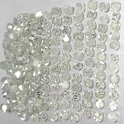 1 - 1.25 Pointer star melee diamond parcel 1 carat G/H I2 round cut diamond