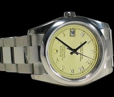 Date just champagne roman dial watch mens rolex watch oyster bracelet datejust