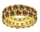4.80 ct. chocolate diamonds double row wedding band new