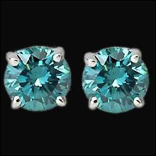 5 ct. blue diamond studs earrings SI1 diamond jewelry