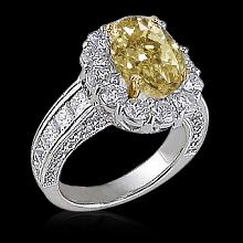 5 ct. canary diamonds anniversary ring white gold new