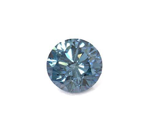 8 ct. blue loose diamond round cut loose diamond