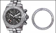 Approx. 4.50 carats diamond bezel rolex breitling luxury watch new