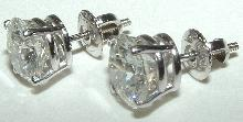 Big diamond earring 5.02 Carat G SI1 diamond earring Platinum