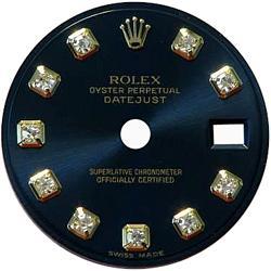 Black diamond dial for ladies datejust rolex dial