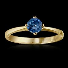 0.75 ct.blue diamond solitaire engagement yellow gold