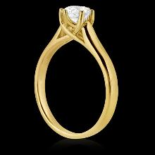 0.75 ct.Diamonds solitaire 6 prong gold yellow ring new