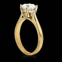 0.75 Ct.diamonds solitaire yellow gold engagement ring