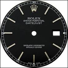Black stick dial for rolex gents watch datejust dial
