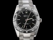 Black stick dial rolex oyster date just watch pearlmaster diamond bezel
