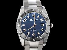 Blue Arabic dial date just watch rolex pearlmaster bezel diamond datejust
