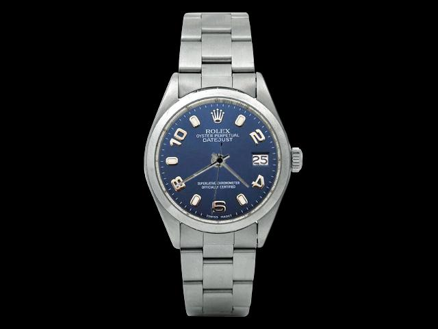 Blue Arabic dial rolex date just watch oyster bracelet datejust