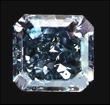 Blue radiant cut loose diamond 0.50 carats diamond