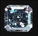 Blue radiant cut loose diamond 0.50 carats diamond