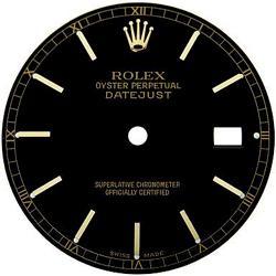 Black stick dial rolex women datejust dial ladies