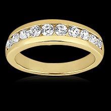 0.65 ct diamonds wedding band gold SPARKLING & NICE