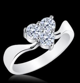 0.70 carat diamonds trilogy ring 14K white gold F VVS1 solitaire jewelry