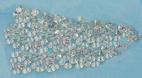 1 - 1.25 Pointer star melee diamond parcel 1 carat G/H SI3 round cut diamond