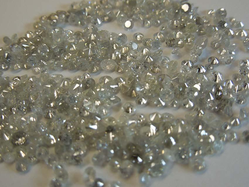 1 - 7 Pointer melee diamond parcel 10 carat H- I I1/I2 round cut mellees