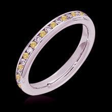 1 ct. diamonds yellow canary eternity wedding band ring