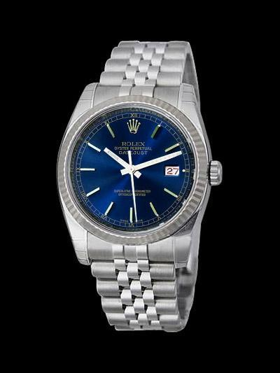 Date just rolex mens watch black stick dial SS datejust
