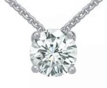 Diamond pendant white gold 1.25 ct. diamond necklace