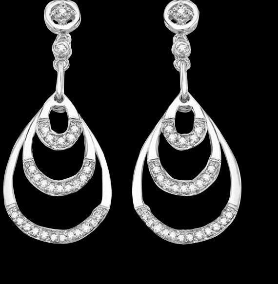 Diamonds chandelier earring pair white gold women diamond 2.50 carat earrings