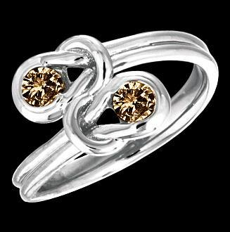 1 carat brown diamonds knot style engagement ring new