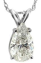 2.5 ct. solitaire diamond jewelry pendant necklace