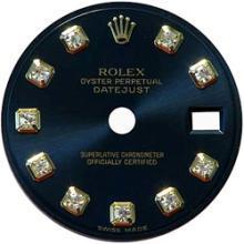Black diamond dial for mens datejust rolex dial