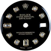 Black diamond dial for women rolex datejust dial