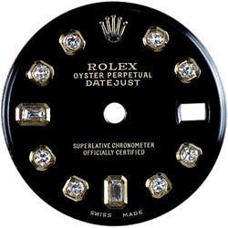 Black diamond dial for women rolex datejust dial